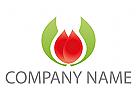 Blume, Pflanze Logo