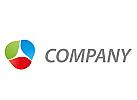 Rund, Dreieck, farbig Logo