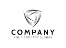 Dreieck Logo, Schild Logo, Industrie Logo, Metall Logo