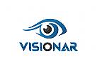 Logo Vision, Auge, Optiker, Security, Sicherheit, Schutz, Verteidigung