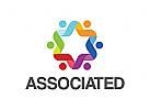 Gruppe Logo, Menschen, sozialen, Beratung