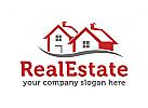 Immobilien Logo, Grundst�cke , Architektur, Bau