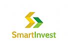 Investitionen Logo, Finanzen Logo, Bank, Rat, Beratung, Geld, Gold, Bau, Architektur, Immobilien