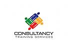 Gruppe Logo, Menschen, sozialen, Beratung, Job-Angebote Logo