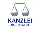 Waage Klammer Justiz Logo