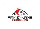 Immobilien Logo, Grundst�cke , Architektur, Bau, Haus