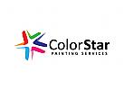 Sterne Logo, bunt, Medien, Malerei, Farbe