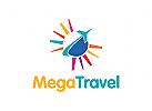 Tourismus Logo, Reisen Logo, Urlaub Logo