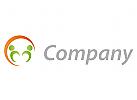 Öko-Medizin, Zwei Personen und Kreis Logo