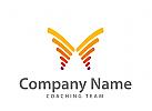Logo abstrakter Schmetterling