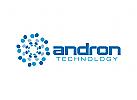 Technologie Logo, Software, Wissenschaft, Bio-Tech, Energie, Wasser, blau