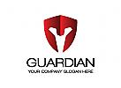 Wächter Logo, Schild Logo, Sicherheit Logo