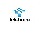 Technologie Logo, Industrie, app, Software, pixel, Daten