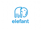 Tier, Elefant Logo