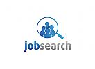 Menschen Logo, Mitarbeiter Logo, Besch�ftigung Logo, Jobs, Karriere Logo