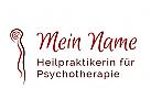 Mensch, Kopf, Spirale, Gehirn, Seele, Psyche, Psychotherapie, Wirbels�ule