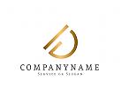 Logo Initiale I D in gold
