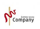 Logo Schlange Stab