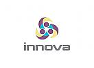 Innovation Logo, Technologie Logo, Menschen Logo, Gruppen Logo, Sport, Verein, Pfleg