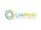 Link, Medien Logo, Beratung Logo, Kreis Logo, Rund Logo