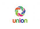 Menschen Logo, Gruppe, Verein, Organisation, Kinder, Sozial