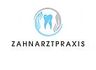 Logo, Zahn, H�nde, Zahnarztpraxis, Dentalhygiene
