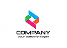 W�rfel Logo, Box Logo, Medien Logo, pixel, Design