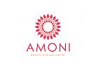 Blume Logo, Rosen Logo, Blütenblätter Logo , Wellness, Massage, Beauty, Pflege