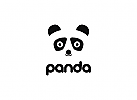 Panda Logo, Maskottchen Logo