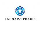 Logo, Zahn, Prophylaxe, Brillant