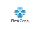 Medizin Logo, Pharmazie Logo, Kreuz Logo, Apotheke Logo