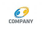 Menschen Logo, Handhabung Logo