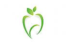 Logo, Zahn, Abstrakt, Blatt, Natur, Zahnarztpraxis