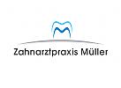 Logo, Zahn, Zahnarztpraxis, Buchstabe, M, Abstrakt