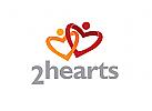 Zeichen, Signet, Logo, Menschen, Herz, Dating
