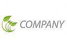 Ökologie, Zeichen, Zeichnung, Symbol, Pflanze, Blätter, Natur, Baum, Logo
