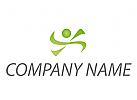 Öko, Zeichen, Zeichnung, Symbol, Person, Bewegung, Sport, Fitness Logo