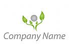 Pflanze, Baum Logo