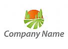 Zeichen, Zeichnung, Wiese, Feld, Sonne, Gärtner, Logo