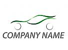 Sportwagen, Auto in grün Logo