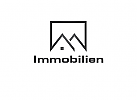 Logo, Haus, Dach, Immobilie, Real Estate