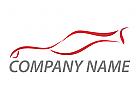 Sportwagen, Auto in rot Logo