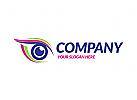 Auge, Augenschutz, Make up, Schminke, Optiker Logo, Augenarzt, Kosmetik, Femine Logo