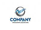 Kreis, Welle, blau, Technologie, Marketing, Multimedia, Klinik, Medizin, Logo