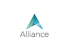 � Abstrakt, Dreieck, Buchstabe A, Marketing, Software, Arhitektur, Web, Studio Logo