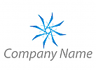 Stern, Blume in blau Logo.