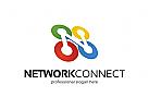 Network, Connect, Link, Medien, Beratung Logo, Kreis Logo, IT, Internet, Buchstabe N,  Rund