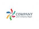 Gruppe Logo, Menschen Logo, Kinder Logo, sozial Logo