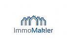 Immobilien Logo, Grundst�cke , Architektur, Bau, Makler Logo