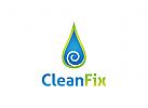 Reinigung Logo, Hygiene, Tropfen Logo, Wasser Logo